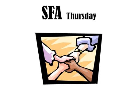 SFA Thursday. Vocabulary Can you pronounce it Do know the definition Can you use it in a sentence.