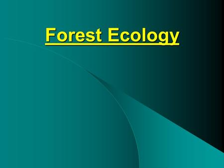 Forest Ecology. What is forest ecology? Study of –Relationships between organisms and their environments –Interactions of organisms with one another –Patterns.