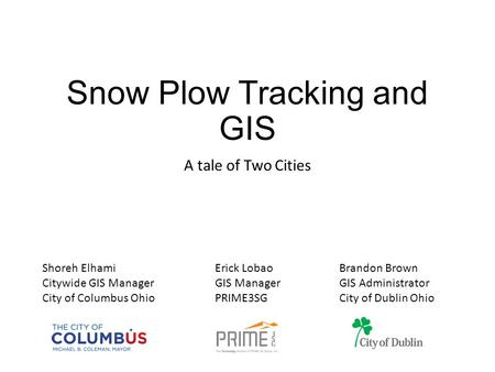 Snow Plow Tracking and GIS