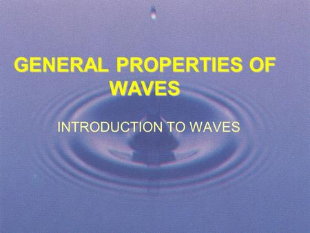introduction to the physics of waves pdf