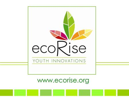 Www.ecorise.org. IMAGINE A 15 YEAR OLD inspiring youth to design a sustainable future for all.
