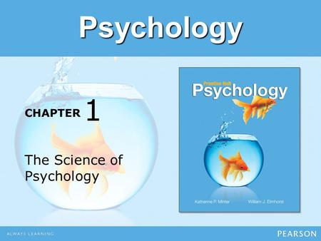 1 The Science of Psychology.