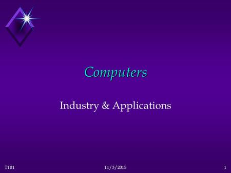 T10111/3/20151 Computers Industry & Applications.