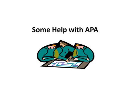 Some Help with APA. Citing a Website When citing a website in APA style include the following information: The name of the website(in italics) The name.