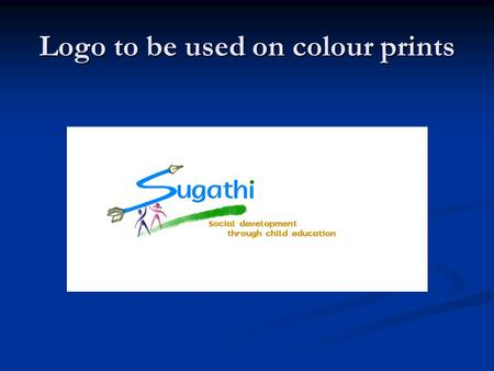 Logo to be used on colour prints. To be used on website.