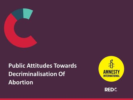 Public Attitudes Towards Decriminalisation Of Abortion.