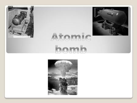 The atomic bomb was first used in warfare at Hiroshima and Nagasaki in August 1945 and the bomb played a key role in ending World War Two.
