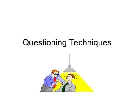 Questioning Techniques. Why Question? Questions are asked not just to monitor comprehension but also to stimulate students to think about the content,