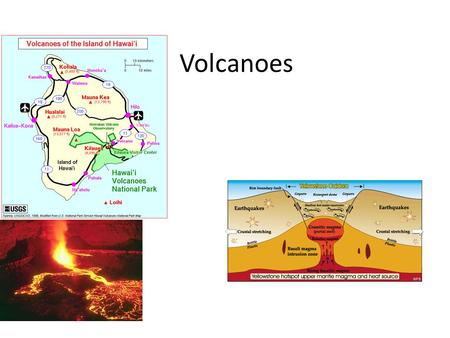 Volcanoes. 7.2 Volcanic Eruptions Types of Lava Mafic Lava: rich in magnesium and iron – Forms much of the oceanic crust Felsic Lava: rich in silica (less.
