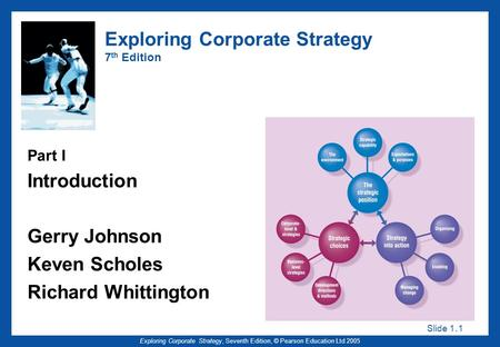Slide 1. 1 Exploring Corporate Strategy, Seventh Edition, © Pearson Education Ltd 2005 Exploring Corporate Strategy 7 th Edition Part I Introduction Gerry.