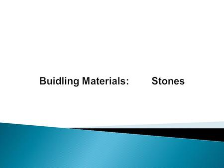 Stone is a 'naturally available building material' which has been used from the early age of civilization. It is available in the form of rocks, which.