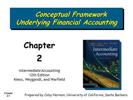 Chapter 2-1 Conceptual Framework Underlying Financial Accounting Conceptual Framework Underlying Financial Accounting Chapter2 Intermediate Accounting.