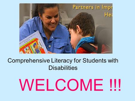 Comprehensive Literacy for Students with Disabilities
