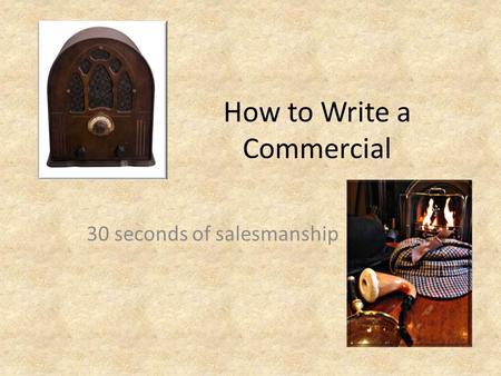 How to write a tv jingles
