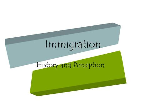 Immigration History and Perception. Statistics The Irish Between the 1820's and 1860's the Irish were the most numerous immigrant group to arrive in.