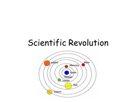 Scientific Revolution. Bellwork List 2 of Galileo's scientific discoveries.
