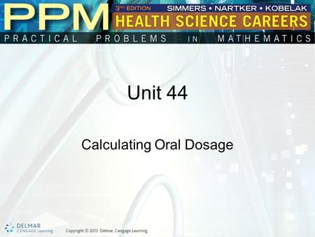 Calculating Oral Dosage