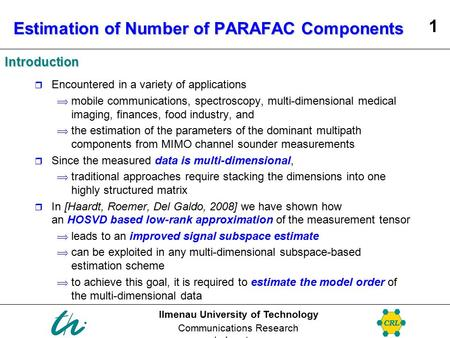 Estimation of Number of PARAFAC Components