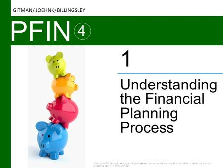 PFIN 4 Understanding the Financial Planning Process 1 Copyright ©2016 Cengage Learning. All Rights Reserved. May not be scanned, copied or duplicated,