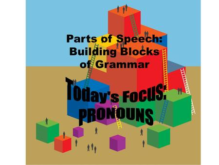 Parts of Speech: Building Blocks of Grammar. 4 x 4 Activity 1.Each group of 4 students gets 4 post-it notes. Write all group members' names on all post-it.