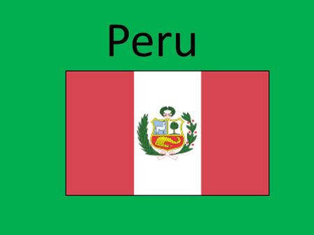 Peru. Geography of Peru Peru, in western South America, extends for nearly 1,500 mi (2,414 km) along the Pacific Ocean. Colombia and Ecuador are to the.