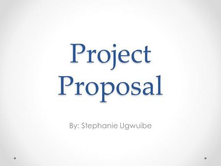 Project Proposal By: Stephanie Ugwuibe. Description of Project. The concept of my project is to show that every beat counts when it comes to dancing.