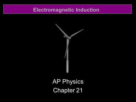 Electromagnetic Induction AP Physics Chapter 21. Electromagnetic Induction 21.1 Induced EMF.