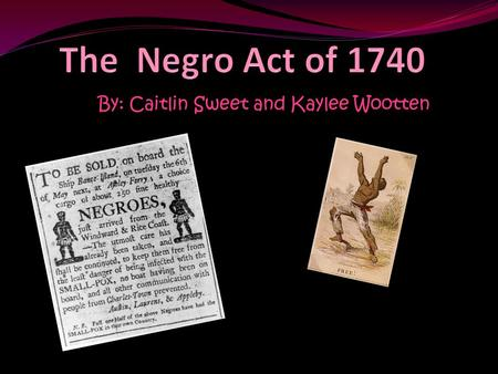 By: Caitlin Sweet and Kaylee Wootten Indicator 8-1.4 Explain the significance of enslaved and free Africans in the developing culture and economy of.