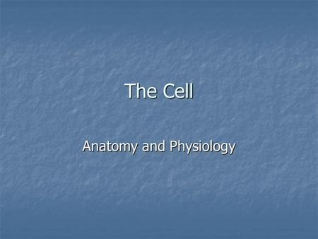 The Cell Anatomy and Physiology. Cell Theory The Cell Theory States: When Schleiden and Schwann proposed the cell theory in 1838, cell biology research.