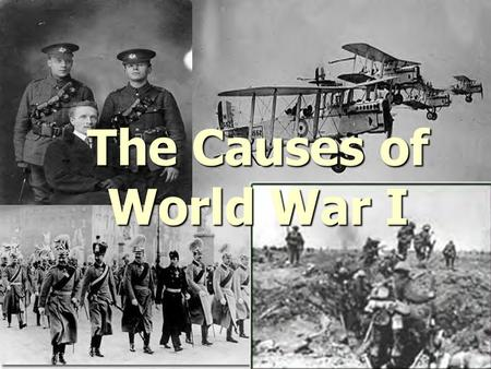 the causes beginning and course of the world war i Listen to the audio of this blog post about world war one – causes the first world war began in august 1914.
