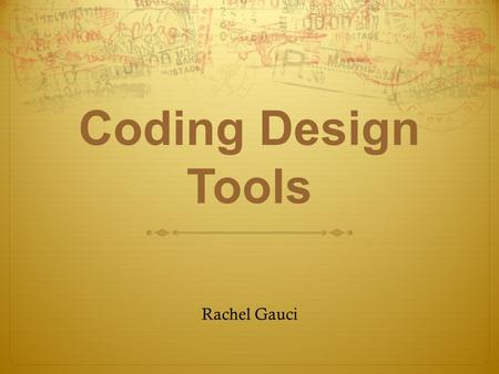 "Coding Design Tools Rachel Gauci. Task: Counting On Create a program that will print out a sequence of numbers from 1 to a number entered"". Decision's."
