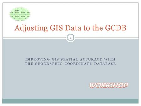 IMPROVING GIS SPATIAL ACCURACY WITH THE GEOGRAPHIC COORDINATE DATABASE Adjusting GIS Data to the GCDB 1.