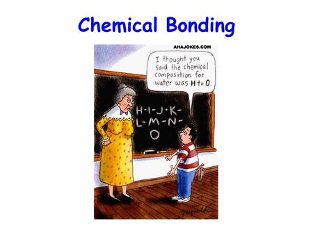 Chemical Bonding. Chemical Bond The forces that hold groups of atoms together and make them function as a unit Bonding involves only the valence electrons.