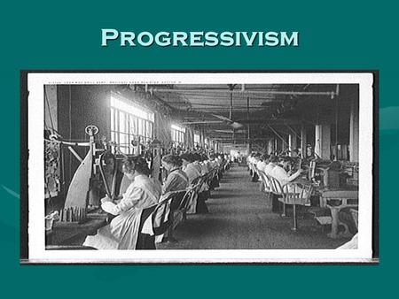 Progressivism. Progressive Movement An early-20th-century reform movement seeking to return control of the government to the people, to restore economic.