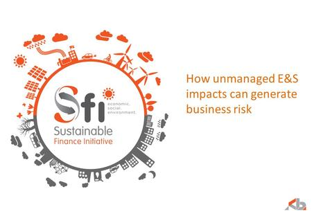 How unmanaged E&S impacts can generate business risk