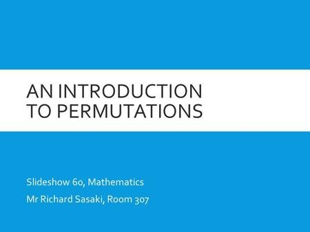An introduction to permutations