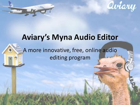 Aviary's Myna Audio Editor A more innovative, free, online audio editing program.