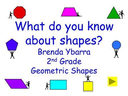 What do you know about shapes? Brenda Ybarra 2 nd Grade Geometric Shapes.