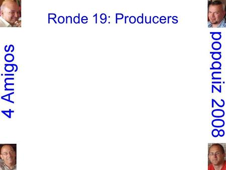 Ronde 19: Producers. 1.Johnny Cash: I walk the line.