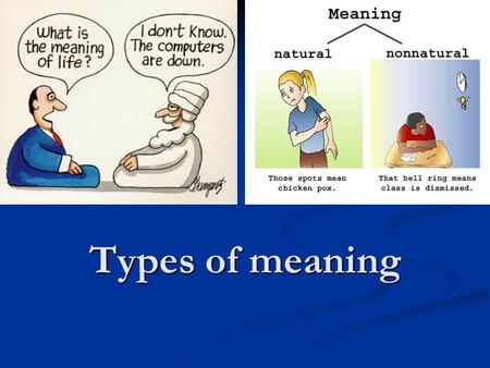 Types of meaning.