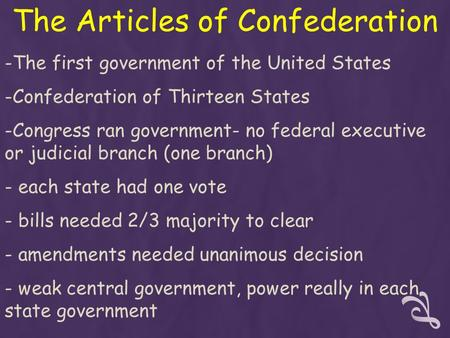 an analysis of the articles of confederation in the united states The articles of confederation  the united states in congress assembled shall never engage in a war, nor grant letters of marque and reprisal in time of peace,.
