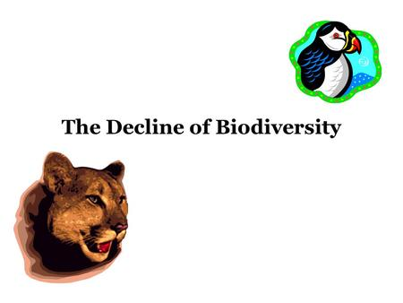 The Decline of Biodiversity. US Species Animal Extinctions Since 1600.