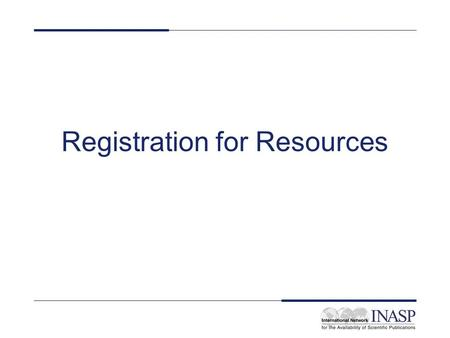 Registration for Resources. Moldova home page Go to INASP page www.inasp.infowww.inasp.info Click on PERI link (right hand side) Click on 'Eligible Countries'
