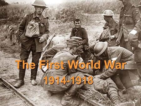The First World War 1914-1918. Causes of the War  4 (long-term) causes of the First World War  NATIONALISM – a devotion to the interests and culture.