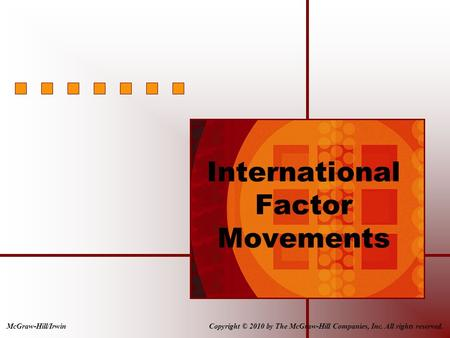 Copyright © 2010 by The McGraw-Hill Companies, Inc. All rights reserved.McGraw-Hill/Irwin International Factor Movements.