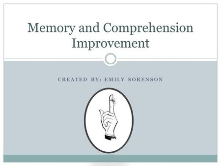 Memory and Comprehension Improvement