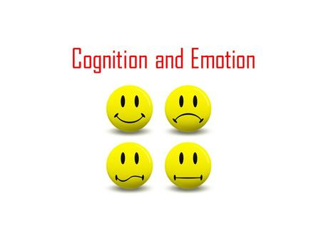 Cognition and Emotion.