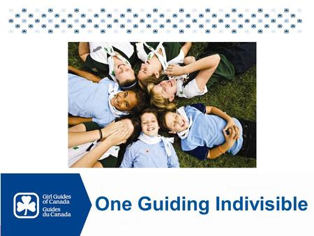"One Guiding Indivisible. Vision for 2010 and beyond Create ""One Guiding Indivisible Structurally Operationally Culturally."