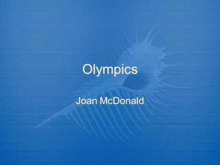 Olympics Joan McDonald. Qualifying  FITA  Only 64 men and 64 women  Canadian Olympic Committee  FCA  FITA  Only 64 men and 64 women  Canadian Olympic.
