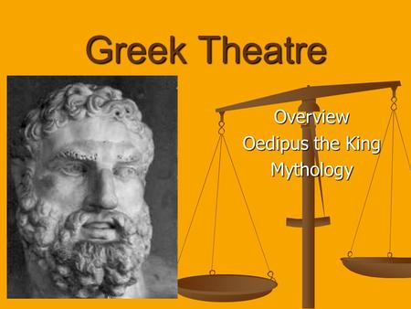 Overview Oedipus the King Mythology
